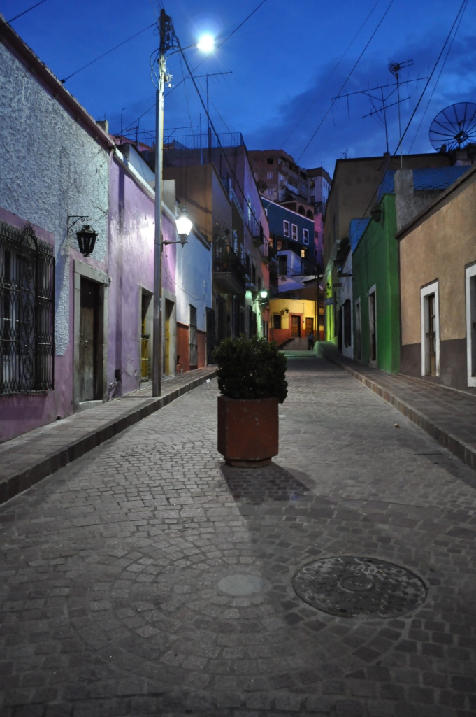 Street of Guanajuato by night